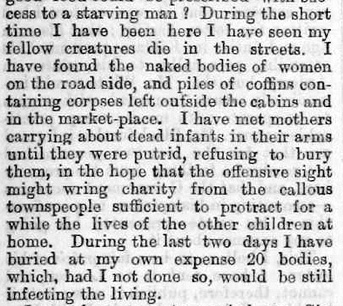 Artikel i London Times 22 april 1846